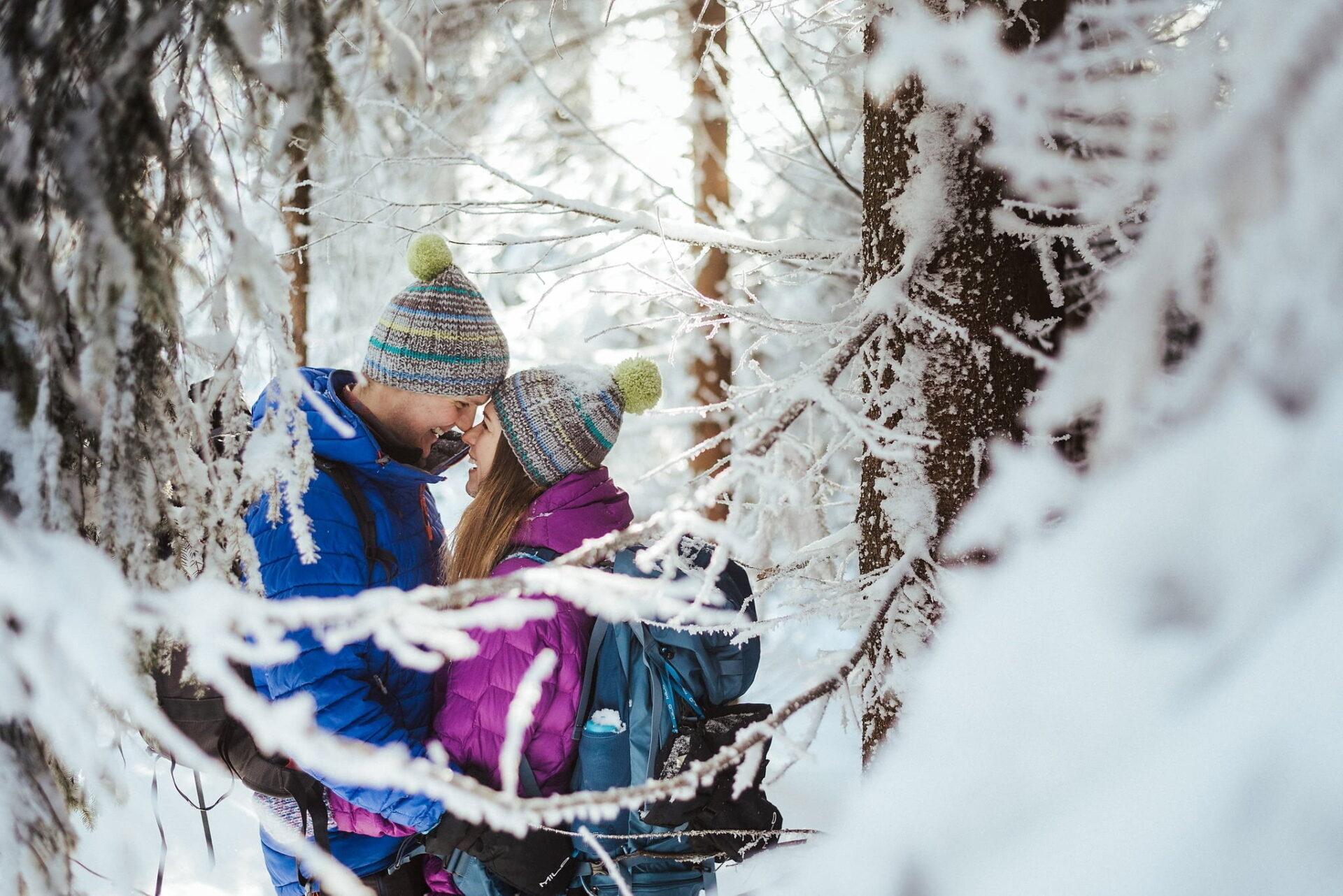 Zimowa sesja narzeczeńska w górach 2