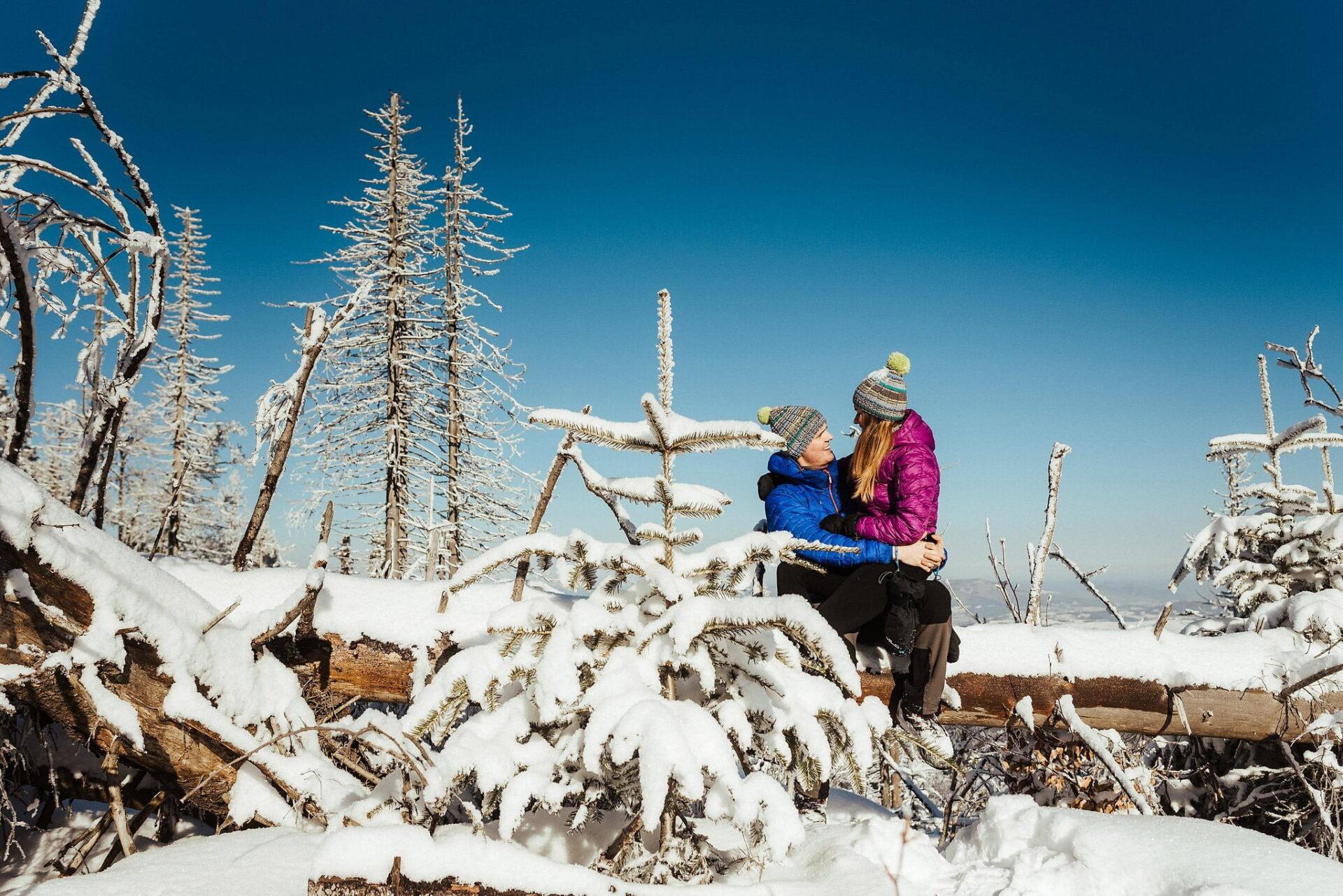 Zimowa sesja narzeczeńska w górach 7