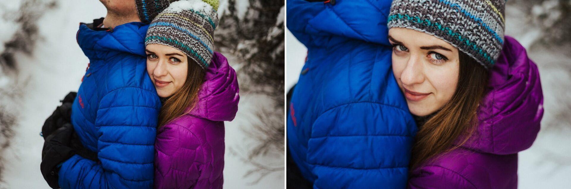 Zimowa sesja narzeczeńska w górach 10