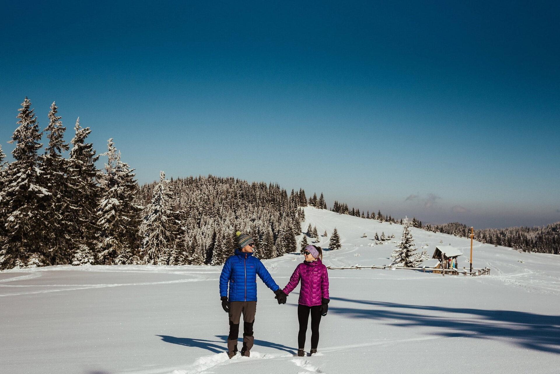 Zimowa sesja narzeczeńska w górach 15
