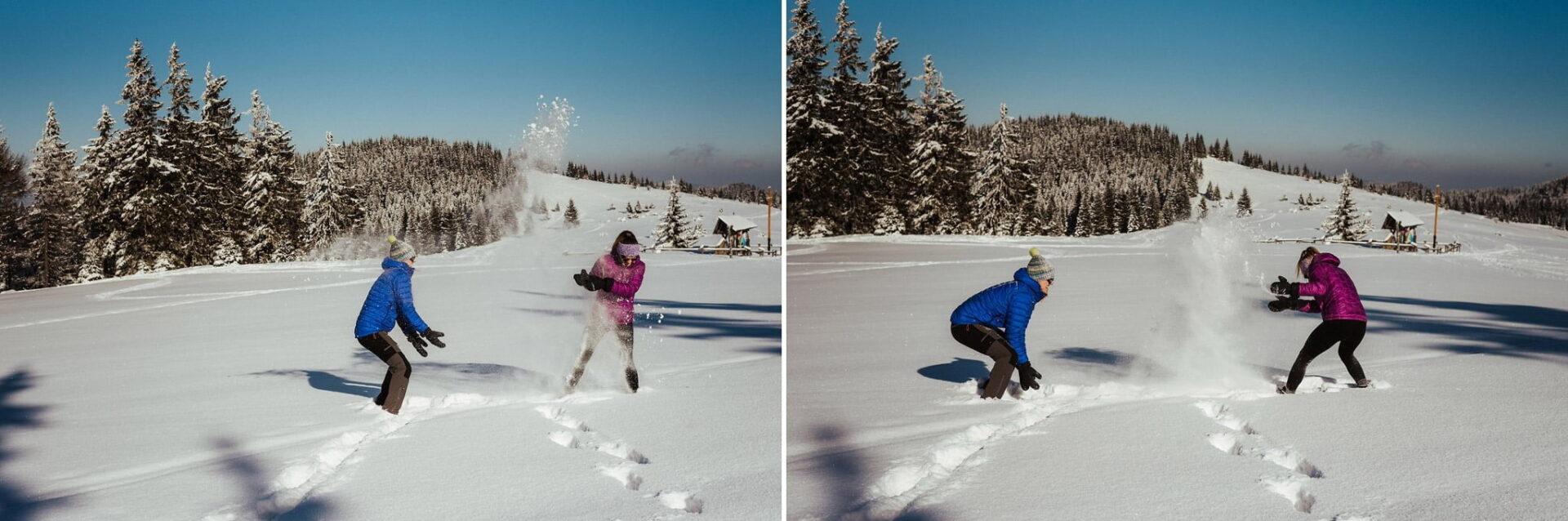 Zimowa sesja narzeczeńska w górach 16