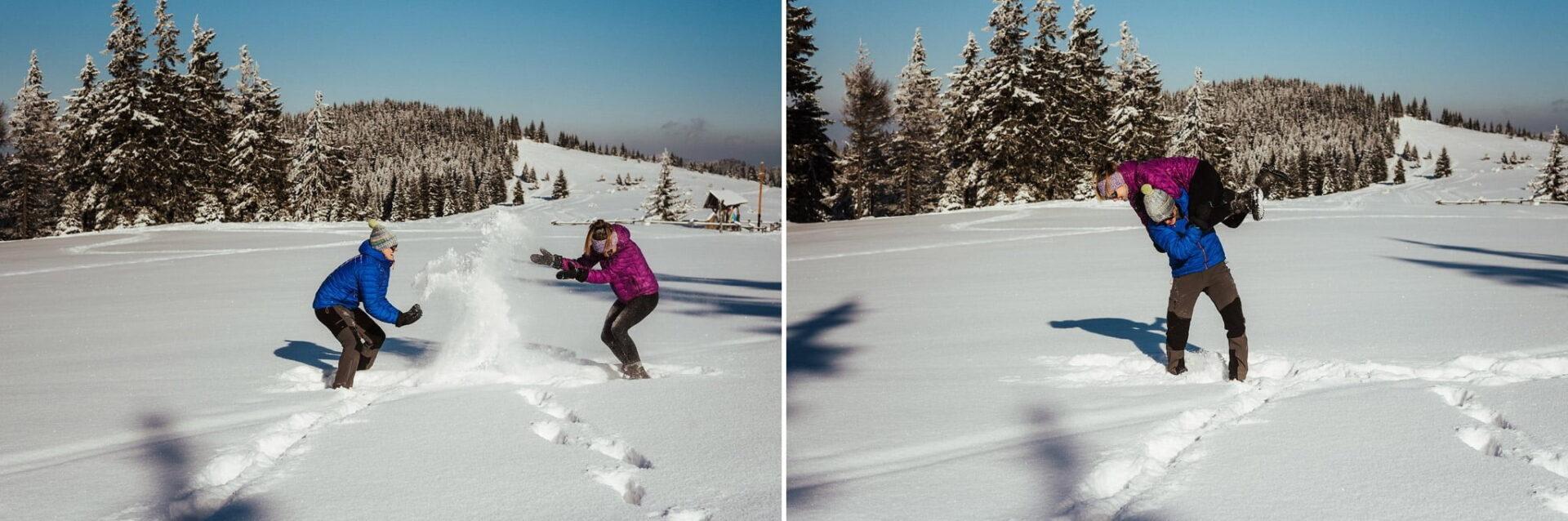 Zimowa sesja narzeczeńska w górach 17