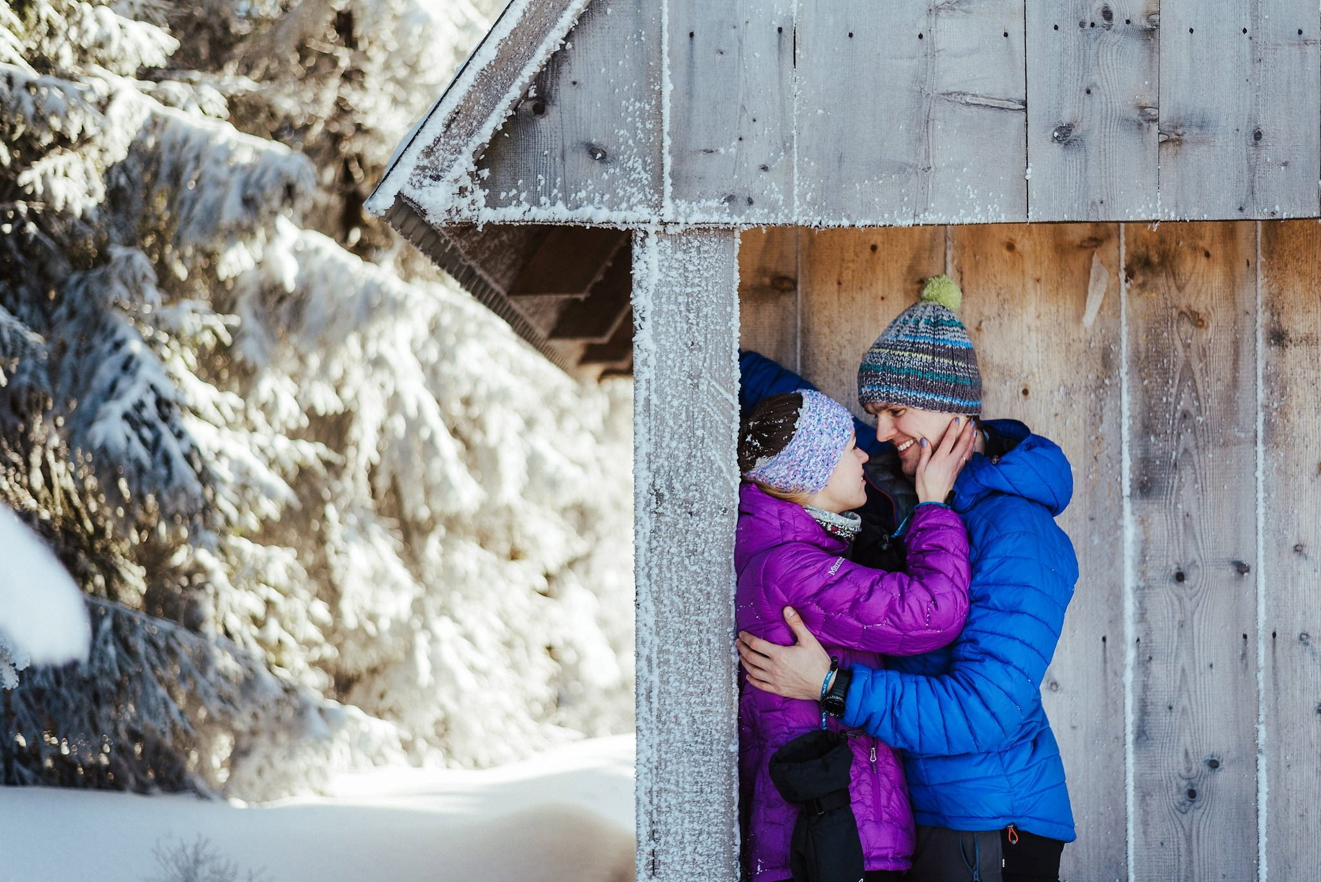 Zimowa sesja narzeczeńska w górach 22