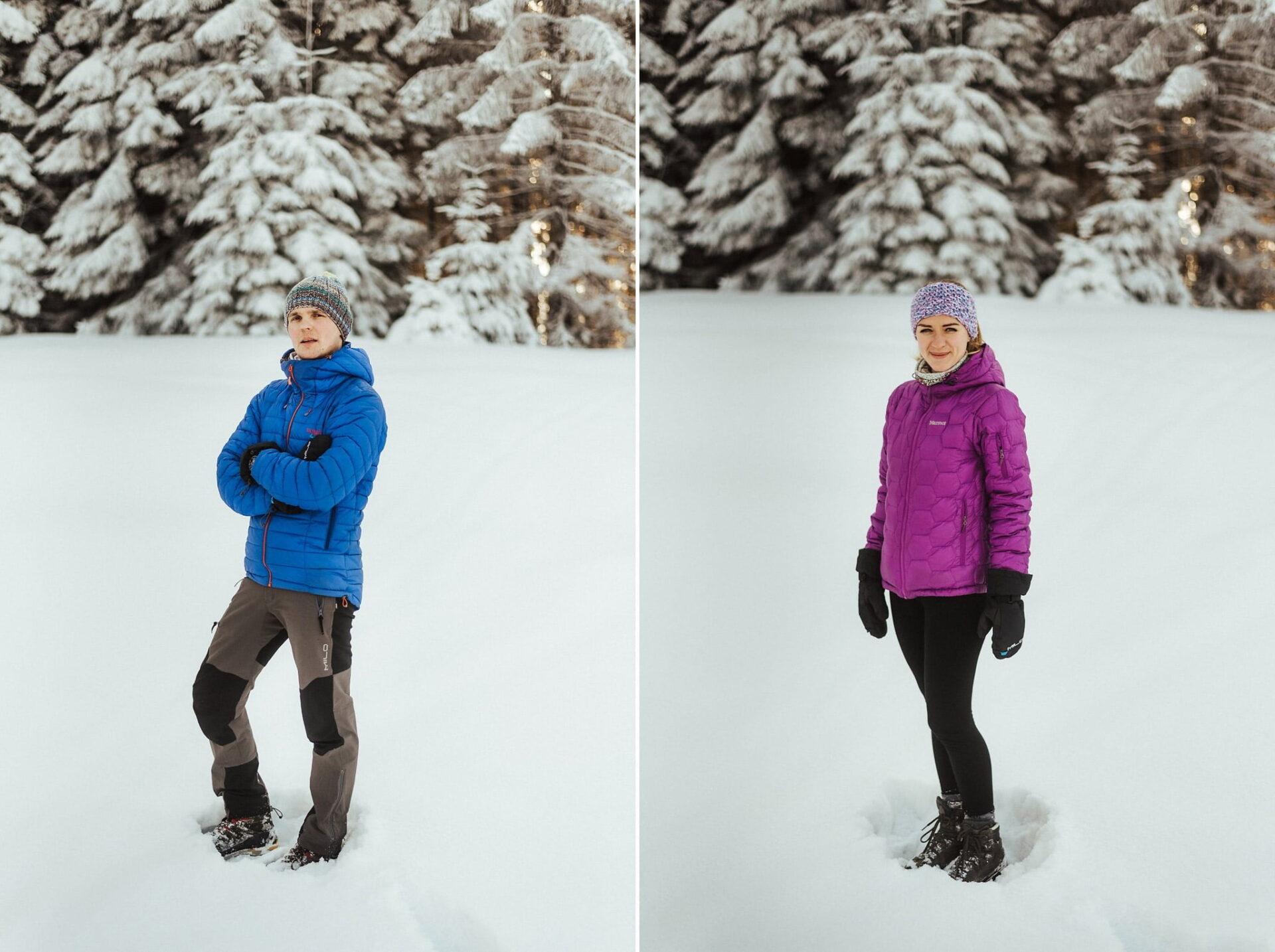 Zimowa sesja narzeczeńska w górach 29