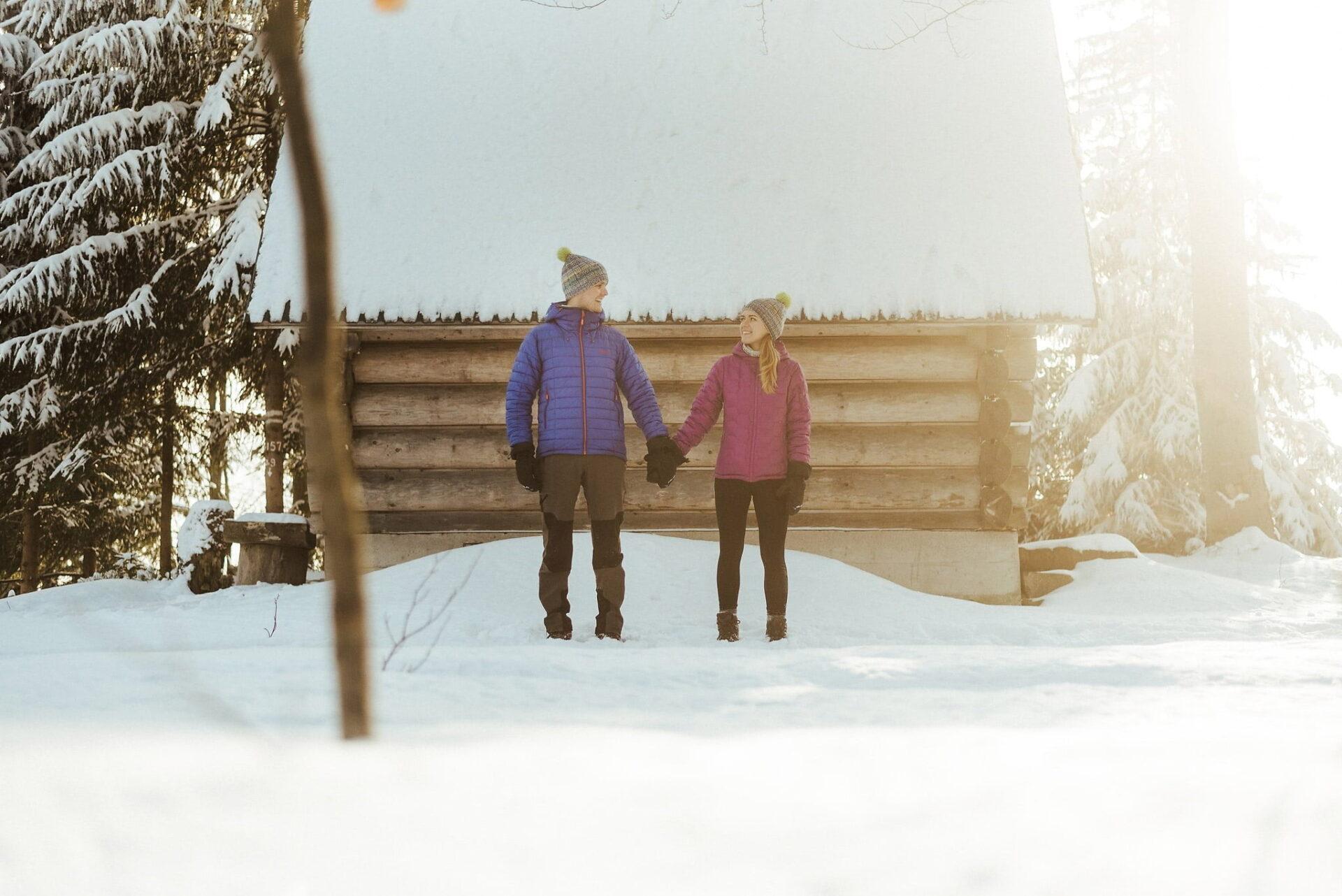 Zimowa sesja narzeczeńska w górach 34