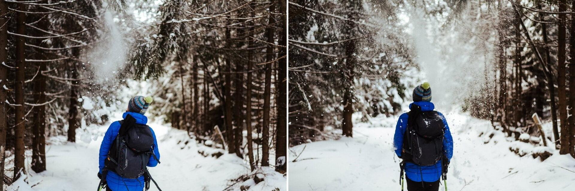 Zimowa sesja narzeczeńska w górach 37