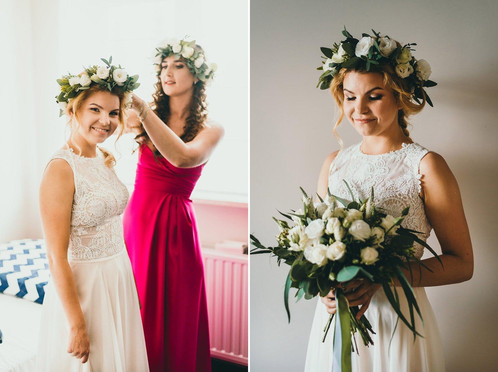 Justyna i Szymon - plenerowy ślub w stylu boho 11