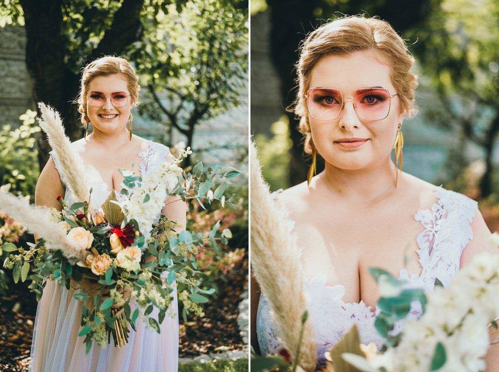 Karolina i Mateusz - plenerowy ślub - Biały Borek 15