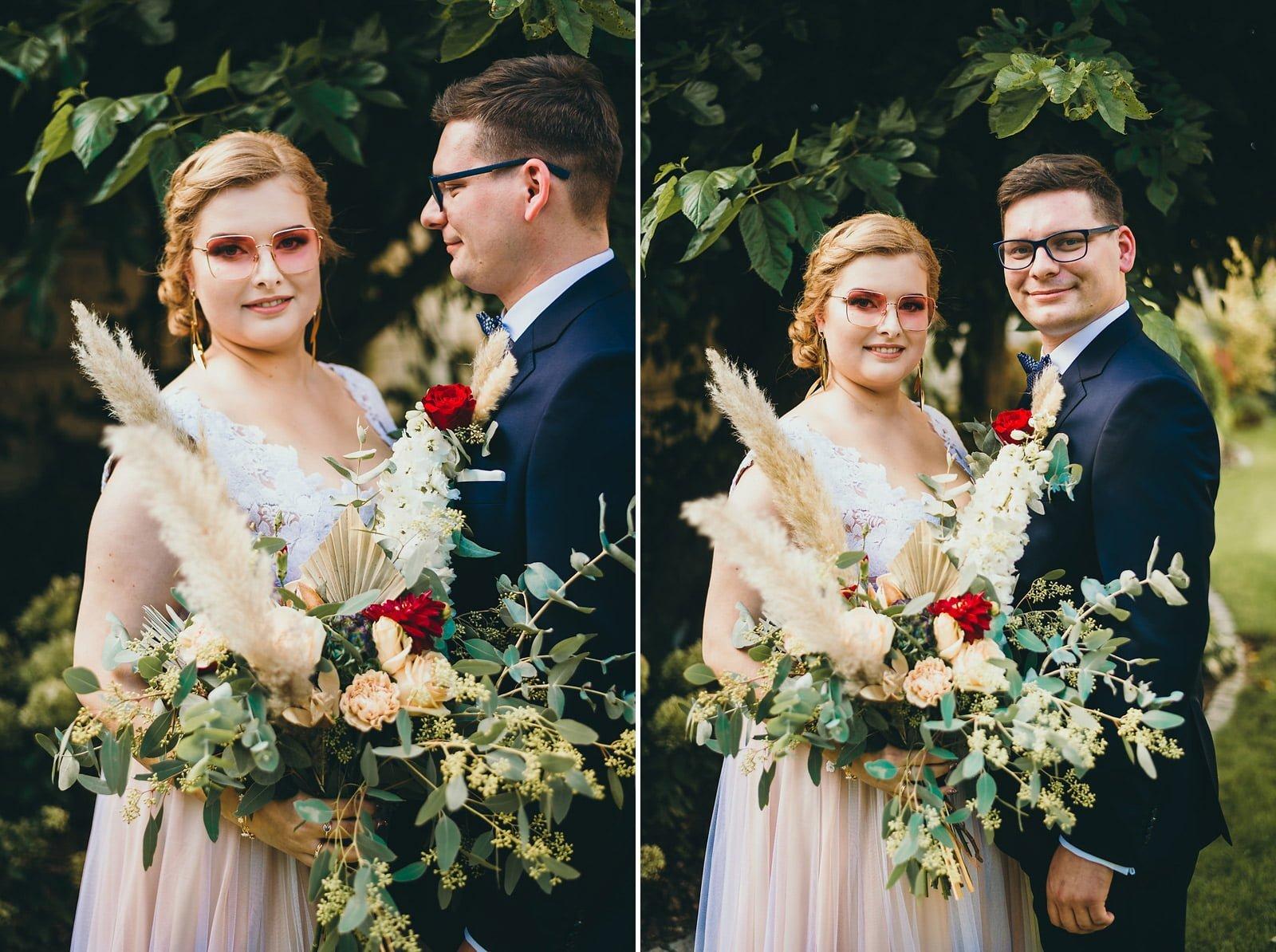Karolina i Mateusz - plenerowy ślub - Biały Borek 20